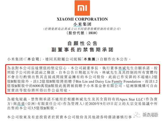 小米聯合創始人林斌將 18 億 AB 股轉換,雷軍投票權飆升至 69%