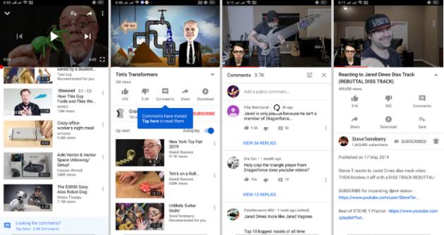 YouTube可能默认隐藏评论 隐藏在播放视频菜单后面