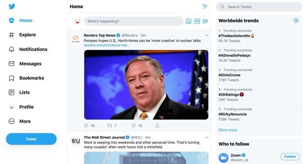 Twitter重新设计网站页面 新主题可改变字体大小