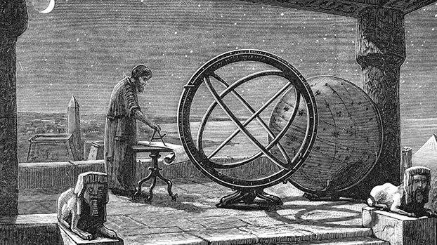 """公元前2世纪,古希腊天文学家希帕克(Hipparchus)编制了已知的第一份星表。古希腊哲学中有""""原子论""""学派,认为在一个无限的虚空中分布有无数个世界。"""
