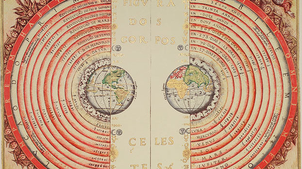 图为葡萄牙宇宙学家和制图师巴尔托洛梅乌·维力乌(Bartolomeu Velho)在1568年绘制的地心说宇宙模型。而如今我们知道,就连太阳系在银河系中的地位都无足轻重,更别提地球了。