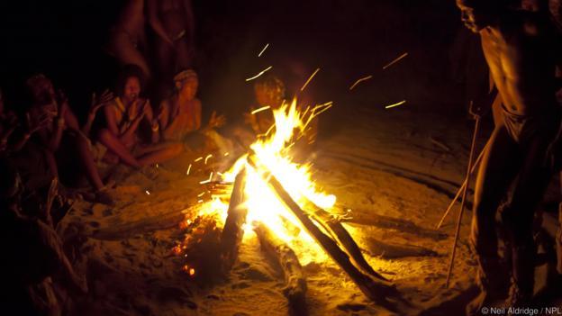 火使人类能够在夜晚聊八卦。