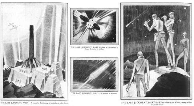 霍尔丹的短篇小说《最后的审判》(The Last Judgment)插图,刊登于1927年2月26日的英国画报《The Graphic》