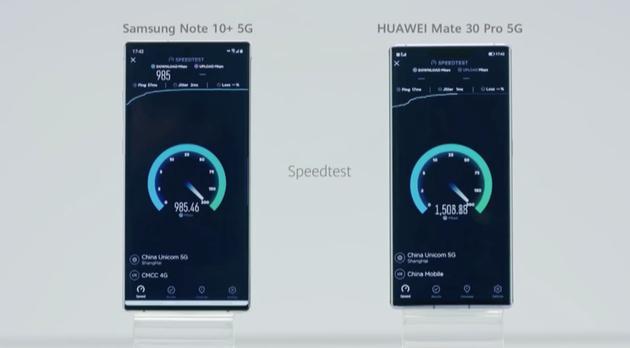 华为Mate30系列搭载全球首款集成式5G芯片,速度超过三星