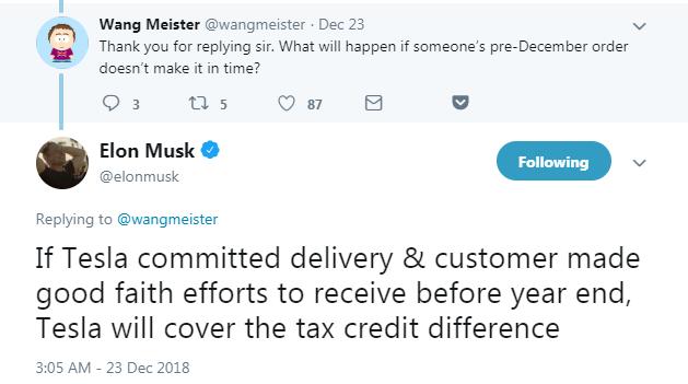 特斯拉将补偿车辆延迟交付造成的额外纳税