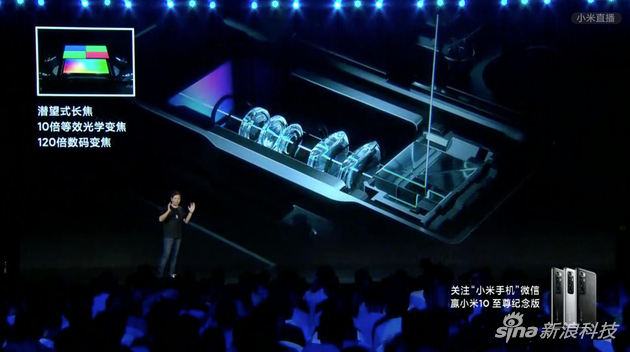小米10 至尊纪念版配备潜望式摄像头
