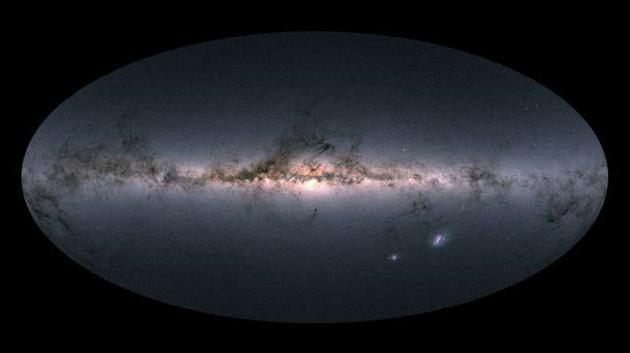 图为盖亚看远镜拍摄的最新星图。