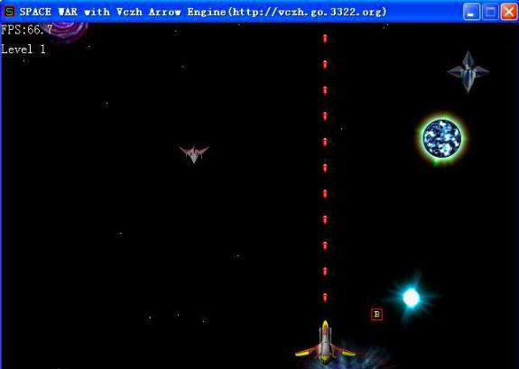 《太空大战》游戏界面