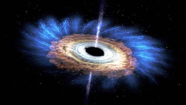 一颗正在被黑洞撕碎的恒星