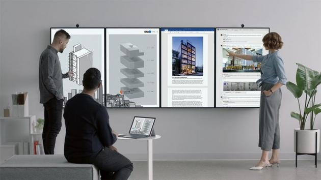 微软宣布Surface Hub 2明年上市:50寸巨屏配4K
