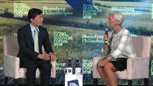 李彦宏对话IMF总裁拉加德:AI更多的还是机会而非威胁