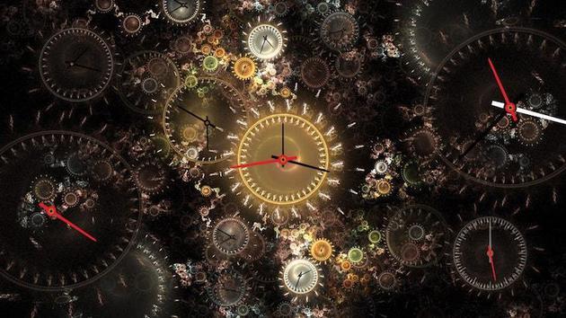 当你研究时间时,它会在你的指间渐渐融化,最后消失不见
