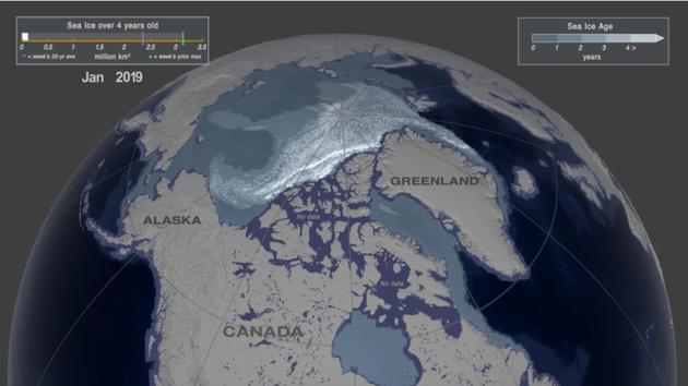 NASA:北极圈内多年冰的面积在仅仅35年内便急剧减少了95%