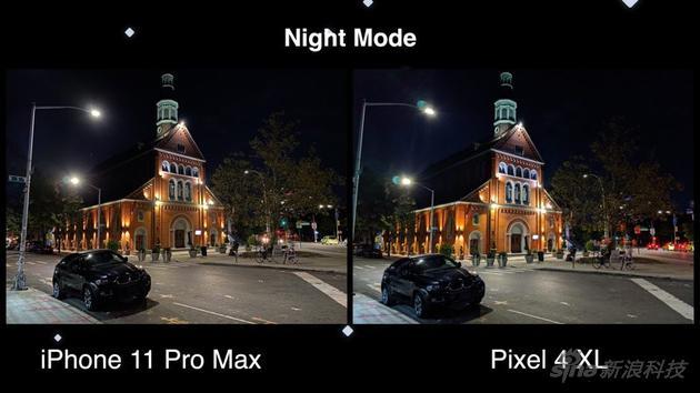 夜拍模式,谷歌的灯光非常明显