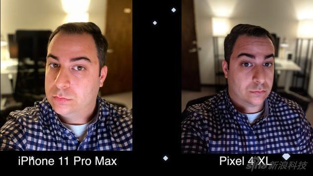 谷歌的前置镜头也有夜拍功能(但实际表现一般)