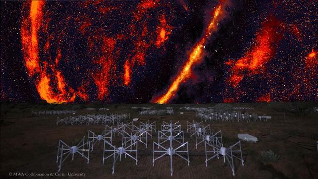 默奇森广域阵列是澳大利亚内地的一个射电看远镜网络,科学家行使该阵列在天空中搜寻中性氢的踪迹,这能够是宇宙黑黑时代末了的遗存