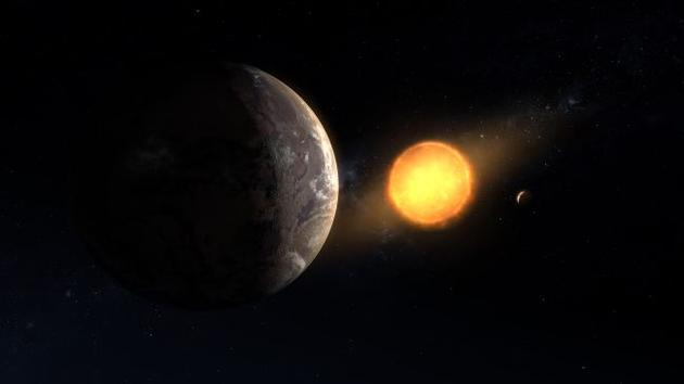 "Kepler-1649c每隔19.5个地球日环绕红低星运走一周,它位于恒星""宜居带"",即液态水能够存在于地球表面的正当距离。"