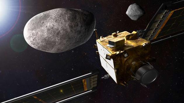 双小行星重定向测试(DART)将一艘宇宙飞船撞击两颗相互环绕小行星中较小的一颗,从地球上很容易测量较小的小行星轨道发生的任何变化,这将为该小行星是否成功偏离轨道提供一个很好的指示器。