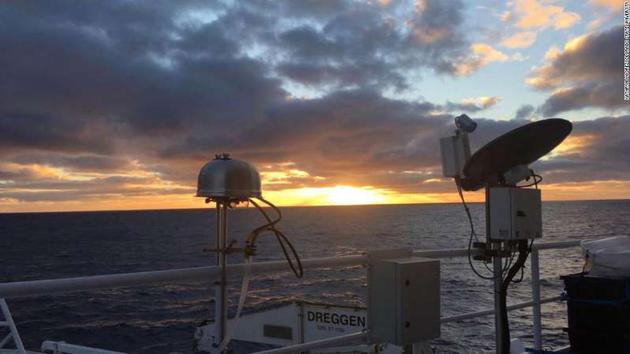 地球上最干净的空气:在南极洲的南冰洋上空