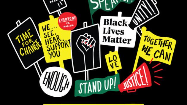 星巴克给员工提供的反种族歧视T恤图案