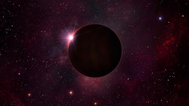 艺术家笔下的黑矮星。黑矮星是冷却恒星的残骸,其形成需要数万亿年时间。