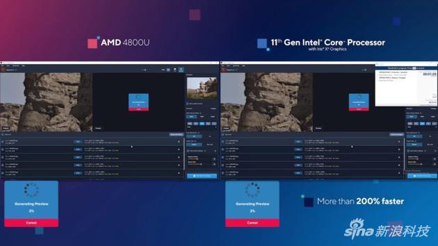 对比AMD R7 4800U