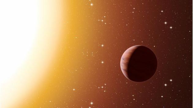 "Wasp-76b是一颗""热木星"",它像木星一样,保持非常近的距离环绕主恒星。"