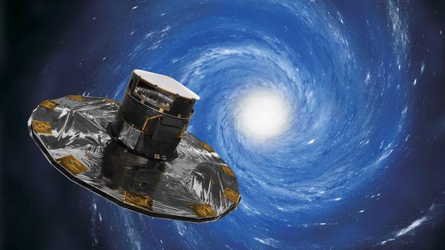 艺术想象图:盖亚将给我们一些关于银河系本质的基本见解