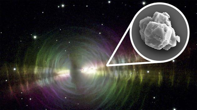 默奇森陨石中发现的某些大型太阳前颗粒可能来自于与卵状星云类似的富含尘埃的演化恒星爆炸