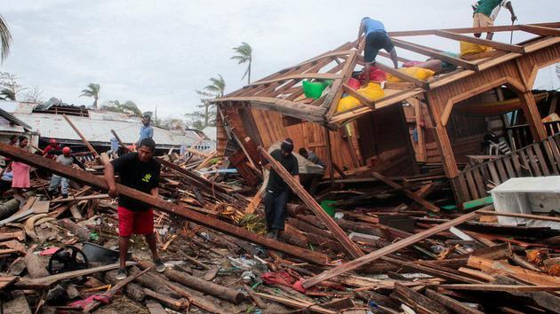 """在北大西洋飓风创纪录的季节,""""IOTA""""飓风在尼加拉瓜造成了巨大破坏"""