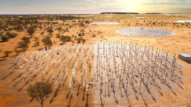 西澳的偶极天线。建成SKA大约需要7-8年时间