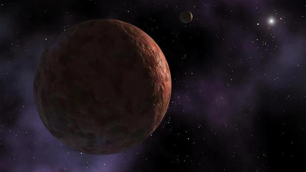 未发现的大质量行星施加的引力或许可以解释矮行星赛德娜的不寻常轨道。