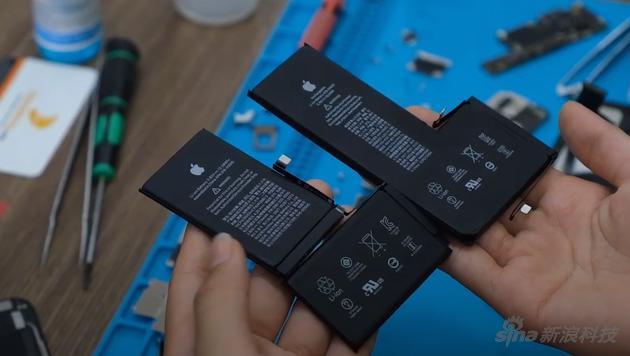 iPhone 11 Pro Max拆解:电池大了 主板镜头都变了