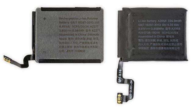 40毫米Apple Watch Series 5拆解,电池采用全新设计