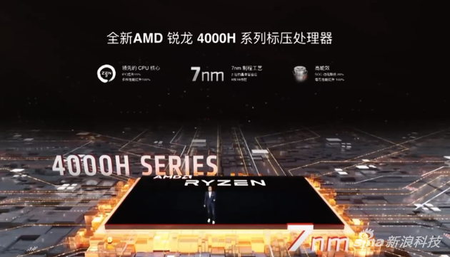 搭载AMD 7nm的锐龙7 4800H处理器