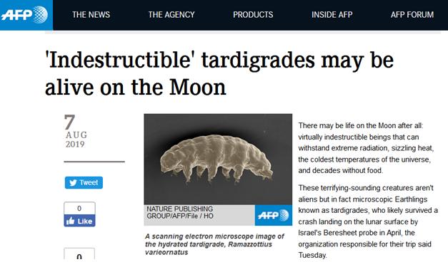 """地球生物為何會""""跑到""""月球上?事情要從4個月前講起。"""