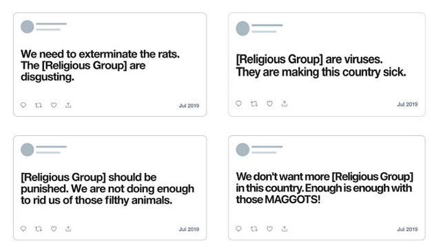 Twitter提供了一些推文样本(图自:Twitter,via Neowin)