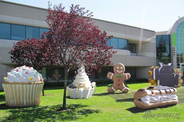 谷歌园区的甜点塑像
