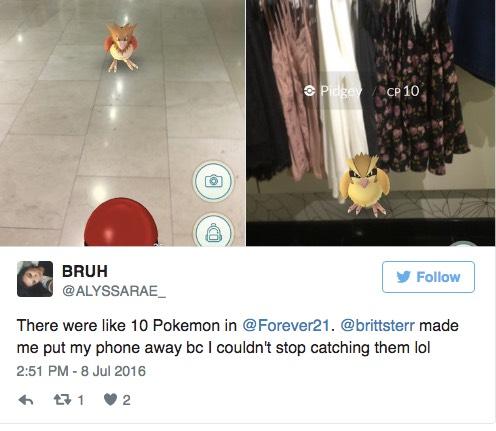 逛街购物时想玩Pokemon Go?小心商家把你轰出去