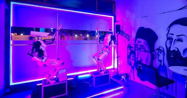 成人人体模特大赛_根据人体模特研发的机器人脱衣舞娘将会在国际成人秀上表演钢管舞