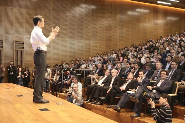 马云访问拉美 称要促进当地中小企业全球化的照片