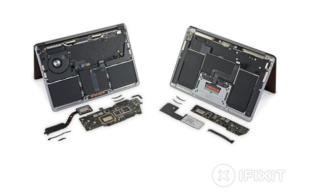 M1芯片的MacBook Air和MacBook Pro拆解