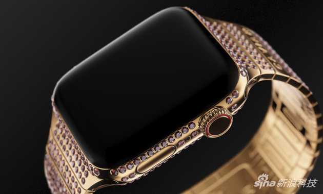 红色的Caviar定制版Apple Watch
