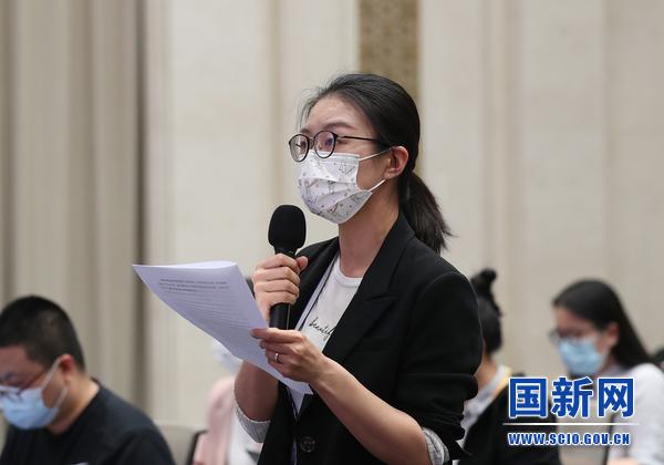 中国日报记者提问(刘健 摄)