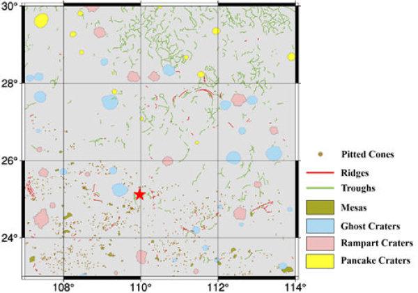 Figura 2. Mappatura del terreno della zona di atterraggio