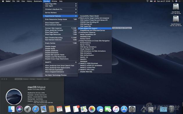 """""""深色模式""""是macOS Mojave的一个功能卖点"""