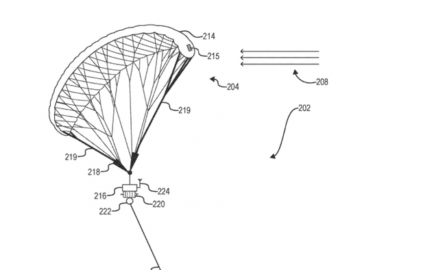 Facebook申请无人机专利 利用风筝在空中飞行