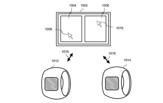 苹果申请新专利,可穿戴电子环形计算设备可佩戴在手...