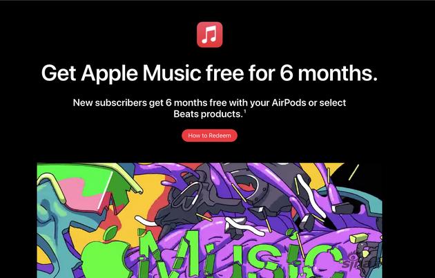 苹果为AirPods和Beats耳机的Apple Music新用户提供6个月免费试用