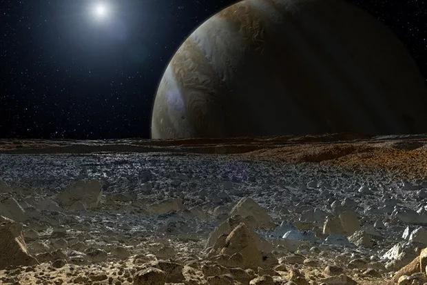 木卫二的艺术渲染图